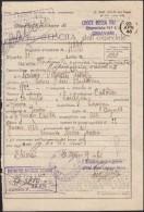 CHIAVARI 1946 - CROCE ROSSA / RED CROSS / CROIX ROUGE / ROTE KREUZ - DOCUMENTO OSPEDALIERO - SX335 - Marcophilie