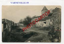 VARNEVILLE-CARTE PHOTO Allemande-Guerre 14-18-1 WK-FRANCE-55- - France