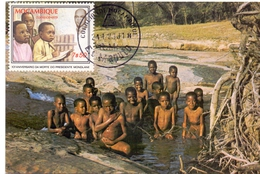 MOZAMBIQUE BIG GAME CARD  AIRMAIL  (SET160043) - Mozambico