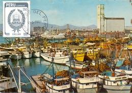 PERU' PUERTO DE LOS PESCADORES  FISHING HARBOUR 1984 (SET160049) - Perù