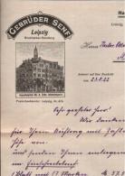 ! 1922 Briefmarkenhandlung Firma Gebrüder Senf, Leipzig, Briefbogen - Briefe U. Dokumente