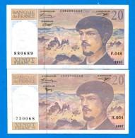 20  Fr  2  Billets - 1962-1997 ''Francs''