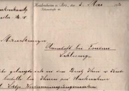 ! 1920 Heidenheim, Bestellung Von Marken Zur Volksabstimmung In Nordschleswig - Settori Di Coordinazione