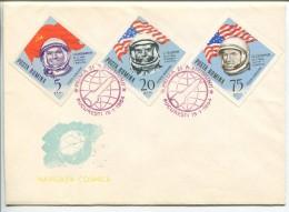 Astronauts Gagarin, Glenn, Cooper, FDC 1964 - Europa