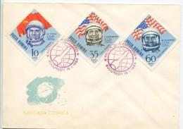 Astronauts Titov, Carpenter, Schirra, FDC 1964 - Europa