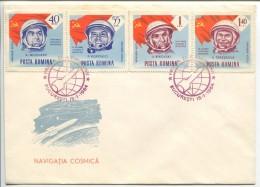Cosmonauts Nicolaev, Popovich, Bikovsky, Tereshkova, FDC 1964 - Europa
