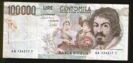 BANCONOTA DA 100.000 LIRE - Anno 1983 - [ 2] 1946-… : Républic