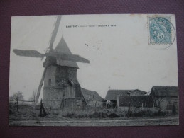 CPA 77 GASTINS Moulin à Vent RARE PLAN Canton NANGIS - Altri Comuni