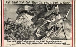 Regiment Artiste Cp Lehmann Dumont, 23 Bayr Inf Regt II Batl, Zitat Kaiser Wilhelm II., Germania - Unclassified