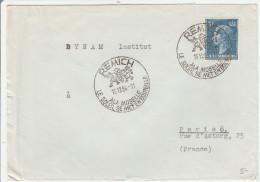Remich Luxembourg 1956 - Vin & Soleil De Moselle - Raisin Wein - Marcophilie - EMA (Empreintes Machines)