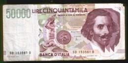 BANCONOTA DA 50.000 LIRE - Bernini II Tipo - Anno 1992 - [ 2] 1946-… : République