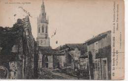 CPA - LA GRANDE GUERRE - 1914 - 1915 - RUINES DE LOUPPY LE CHATEAU - UNE RUE DEVASTEE - 676 - BAUDINIERE - Guerra 1914-18