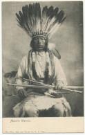 Apache Warrior Chef Apache Avec Arc , Fleches Et Coiffure De Plumes No 891 Nat. Art Views Co New York City - Indiens De L'Amerique Du Nord