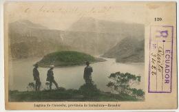 Ecuador Laguna De Cuicocha Provinvia De Imbabura No 120 P. Used Registered From Quito 1909 To Paris Certificada - Equateur