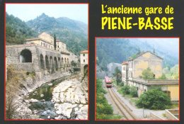 06 : Autorail X-4500 De Passage à La L'ancienne Gare Frontière Italienne De Piène-Basse, à L'abandon Depuis 1944 - Tram