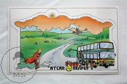 Vintage RENFE 1980´s Spanish Public Transpor Advertising Stiker - Tintin & Milou - Autocollants