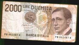 BANCONOTA DA 2.000 LIRE - Marconi - Anno 1990 - [ 2] 1946-… : Repubblica