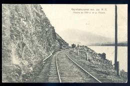 Cpa  De Russie Le Lac Baïkal Le Chemin De La Passe -- Voie Ferrée Train Chemin De Fer   LIOB105 - Russie