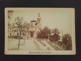 MONACO - MONTE CARLO - Photo Sur Carton - Le Théâtre - Lieux
