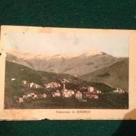 Cartolina Panorama Di Lumarzo  Genova Viaggiata 1914 Formato Piccolo Un Pò Rovinata - Genova