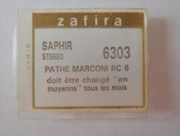 ZAFIRA DIAMANT STEREO REFERENCE 6303 POUR PATHE MARCONI RC 6 TOURNE DISQUE CHAINE HIFI - Zubehör & Versandtaschen