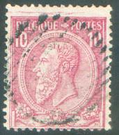 N°46 - 10 Centimes Rouge Obl. Muette Rurale à 14 Barres - 11422 - 1884-1891 Leopold II