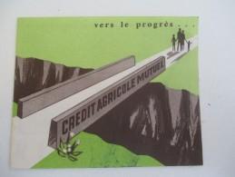Petit Calendrier De Sac à 2 Volets /Banque / Crédit Agricole Mutuel/CAM//1965    CAL345 - Calendriers