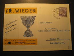 Svetla Sazavou 1941 To Praga Stamp On Card Bohmen Und Mahren Bohemia Moravia German Occupation WW2 Third Reich - Occupation 1938-45