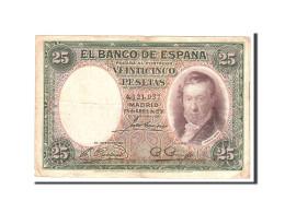 Espagne, 25 Pesetas, 1931, KM:81, 1931-04-25, TTB - 1-2-5-25 Pesetas