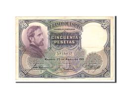 Espagne, 50 Pesetas, 1931, KM:82, 1931-04-25, TTB - 50 Pesetas