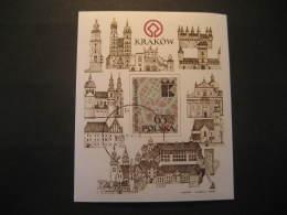 Krakow Architecture Castle Imperforated Cancel Block POLAND - Blocks & Sheetlets & Panes