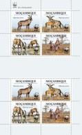 Mozambico 2010, WWF, Antilope 4valx2 In BF - W.W.F.