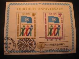 New York 1975 United Nations UN Cancel Block - Oblitérés