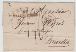 FP171 / Aus Frankreich 1820 (Wallenciennes) Nach Brüssel - Poststempel (Briefe)