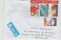 B368 / Einzelmarke  Und 3-er Streifen 2016 Nach Spanien - Briefe U. Dokumente