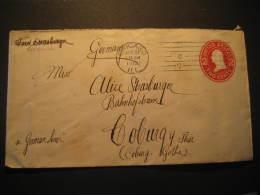 Chicago 1913 To Coburg Germany Postal Stationery Cover USA - Etats-Unis