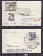 AUSTRIA 1961, 2 SMALL COVERS WITH SPECIAL CHRISTMAS CANCEL, 19. DEC. 1961, TO GERMANY, See Scans - 1945-.... 2ème République