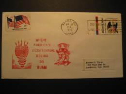 Agana GUAM 1976 To Anderson Cancel Cover USA - Guam