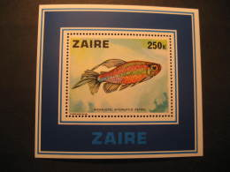 ZAIRE Yvert Block 2 Cat.: 9,15 Eur ** Unhinged Peters Fish Fauna Congo Area - Autres