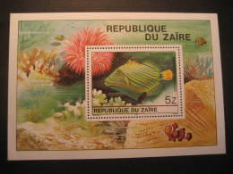 ZAIRE Yvert Block 23 Cat.: 5,65 Eur ** Unhinged Baliste Ondule Fish Fauna Congo Area - Autres