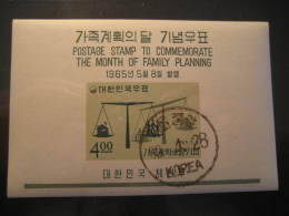 1965 SOUTH KOREA Coree Du Sud Yvert Block 93 Cat. 2006: 5,50 Eur Cancel Family Planing - Korea, South