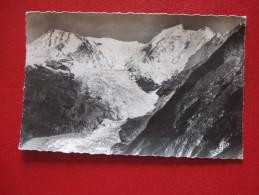 """74 - CHAMONIX - LE GLACIER DE BIONNASSAY , L' AIGUILLE ET LE DOME DU GOÛTER - VUE PRISE DU COL DU TRICOT - """" PLAN RARE """" - Chamonix-Mont-Blanc"""