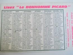 """Calendrier Moyen De Bureau/""""Le Bonhomme Picard""""/Imprimerie/ SINET / Grandvilliers/Oise//1966    CAL347 - Kalender"""