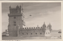 Portugal - Lisboa - Torre De Belem - Avion Biplan Moteur - Lisboa