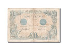 France, 20 Francs, 20 F 1905-1913 ''Bleu'', 1912, 1912-11-29, KM:68b, TB+, Fa... - 1871-1952 Circulated During XXth