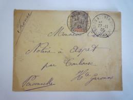 Enveloppe Au Départ De NOUMEA  à Destination De ASPET  1905   - Briefe U. Dokumente