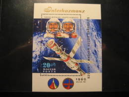 Yvert Block 146 Cat: 10 Eur ** Unhinged Air Mail Cosmos Kosmos Moon Space Spatial Astronomy Science Hungary - Space