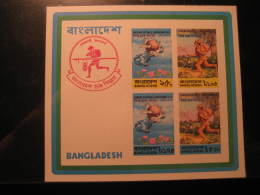 BANGLADESH ** Unhinged Imperforated Block UPU Postman - UPU (Wereldpostunie)