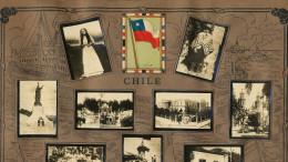 Chile  Cartel De 13 Pequenas Fotos Propaganda Tabacalera Cubana Cuba  Bandera  Minas De Cobre  Ganado Santiago Etc - Salvador
