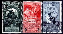 Italia-F01523 - 1913: Sassone N. 99/101 (o) Used - Privo Di Difetti Occulti. - 1900-44 Vittorio Emanuele III
